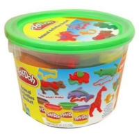 Massinha Play-Doh Mini Balde Molde de Animais Hasbro