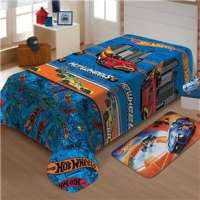 Manta Infantil Mattel Soft Hot Wheels Turbo Jolitex