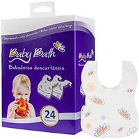 Babadores Descartáveis Baby Bath Borboletas 24 Unidades