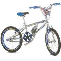 Bicicleta Infantil Sport Bike Top Cross Aro 20 Cromada Azul