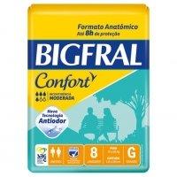 Fralda Bigfral G Confort Pacote com 8 unidades