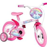 Bicicleta Infantil Rainbow Magic Aro 12 Rosa