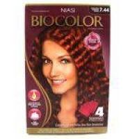 Tintura Biocolor Kit Creme Louro Médio Acobreado 7.44