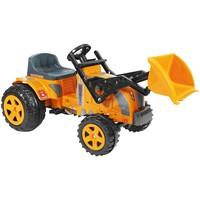 Mini Trator a Pedal Infantil Biemme Fazendeiro com Pá Laranja