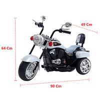 Moto Elétrica Infantil Brink+ TR1501 6V Prata