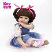 Kaydora 22 Polegadas Silicone Renascido Boneca Brinquedos Para Meninas 55 Cm Renascido Babies Sorriso Menina