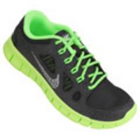6bc54981827 Tênis Nike Free 5.0 Juvenil Feminino Preto e Verde Limão