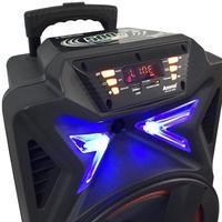 Caixa Amplificada Amvox ACA 501 New X 500W 2 Microfones Preta