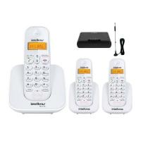 Telefone sem Fio Intelbrás TS3110 Branco + 2 Ramais + Interface Celular Branco