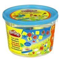Massinha Play-Doh - Mini Balde Molde de Numeros Hasbro