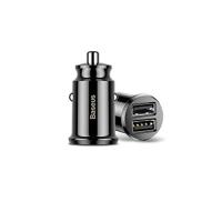 Carregador Veicular Baseus 2 Portas USB 3.1 Turbo Charger com Led