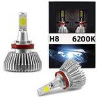 Kit Lâmpada Super Led H8 6200k 12v 30w 4000lm Multilaser Au824 Carro Moto Outlet