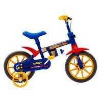 Bicicleta Fischer Ferinha Aro 12 Freio Manual (FM) Masculina Azul e Amarela