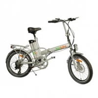 Bicicleta Biobike Elétrica Dobrável JS 12 Aro 20 Prata