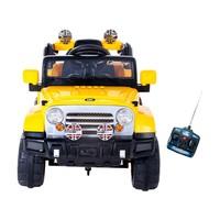 Mini Jipe Trilha A Pedal Infantil Com Controle Remoto Emite Sons Farol Bel Brink