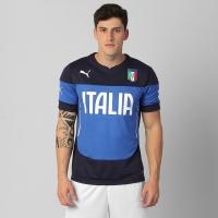Camisa Puma Seleção Itália Treino 2014 Azul  d32bbe71ccaac