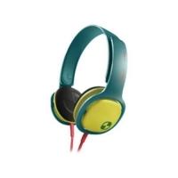 Fone De Ouvido Headphone Philips Sho3300A Verde e Amarelo
