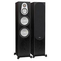 Monitor Audio Silver 500 - Par de caixas acústicas Torre para Home Theater Preto