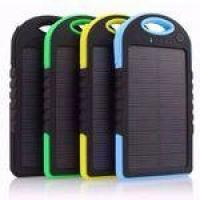 Carregador Celular Solar USB Portátil Prova Dágua Power Bank Verde