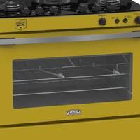 Fogao Venax Gaudi Vetro Vitreo 5 Bocas GLP Amarelo 220V