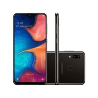 Smartphone Samsung Galaxy A20 SM-A205G Desbloqueado Dual Chip 32GB Android 9.0 Preto