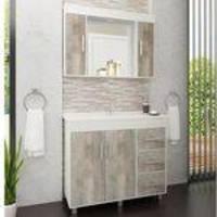 Gabinete para Banheiro com Pés e Espelheira Balcony Saara 100cm - ARTICO/ARINTO