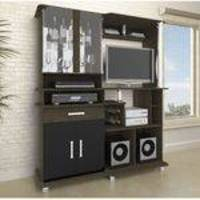 Estante Home Theater para TV até 32 Polegadas com Bar Luxo JB Bechara Teka/Preto