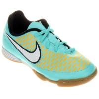 Chuteira Nike Magista Ola IC Infantil Verde Água e Amarela  d92f6c5d1b762