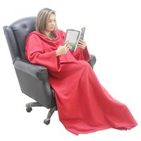 Cobertor Ariel Salamon TV com mangas Vermelho