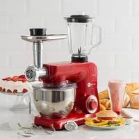 Batedeira Power Machine 500w Vermelha 220v + Jarra 2 LItros + Moedor De Carne Fun Kitchen