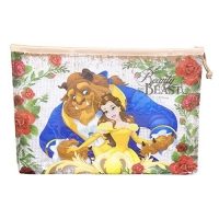 Pasta Necessaire A Bela E A Fera Princesas 23X32cm - Disney