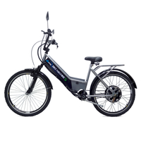 Bicicleta Elétrica Machine Motors 800W 48V Prata