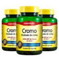 Picolinato de Cromo - 3x 60 cápsulas - Maxinutri