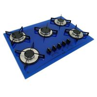 Cooktop D&D Metal CE05AZ Mega Chama 5 Bocas Azul