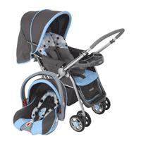 Carrinho de Bebê Cosco CD200TS Reverse Travel System + Bebê Conforto Azul