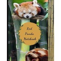Red Panda Notebook: Cute Four Red Pandas on Bamboo Novelty Gift - Composition Notebook 8.5 x 11