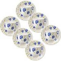 Conjunto de 6 Xícaras de Chá 200 ML com Pires Actual Azul Perfeito Biona