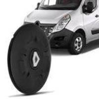 Calota Centro Miolo De Roda Aro 16 Renault Master 2013 A 2017 Fechada Preto Furação 5x130
