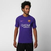Camisa Nike Barcelona Treino 2015 Masculina Roxa  8d70108fe2ed0