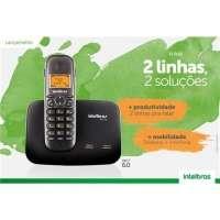 Telefone Sem Fio Intelbras TS-5150 Preto + 2 Ramal Sem Fio Digital Intelbras TS 5121