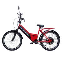 Bicicleta Elétrica Machine Motors 800W 48V Vermelho
