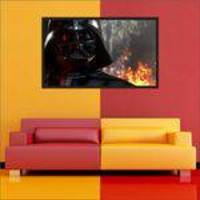 Quadro Decorativo Star Wars Darth Vader Com Moldura 02
