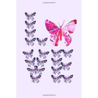 Love: Butterfly Journal. Original Mixed Media Collage Art Butterflies Spelling Out the Word Love!
