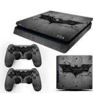 Skin PS4 Slim Batman Arkham Knight Cinza