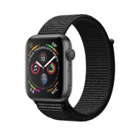 Apple Watch Series 4 Gps + Cellular 44mm Caixa Cinza Espacial Com Pulseira Loop Esportiva - Preto