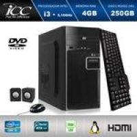 Computador Desktop Icc Iv2340c2 Intel Core I3 3.20 Ghz 4gb HD 250gb Dvdrw, Teclado, Mouse, Cx De Som Hdmi Fullhd