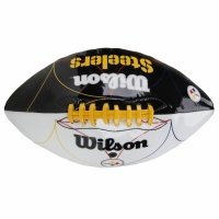Bola de Futebol Americano Wilson NFL Team Logo Pittsburgh Steelers Jr