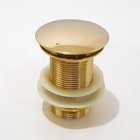 Válvula Click Cuba Apoio Banheiro Lavabo Clic VL3 Dourada - Máxima Metais
