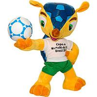 Pelúcia BBR Fuleco Copa do Mundo da FIFA 2014 30cm