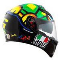 Capacete Agv K3 Sv Turtle Valentino Rossi Com Pinlock - 58